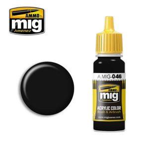 Mig Acrylic MIG046 Matt Black