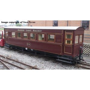 Bachmann 394-025 Bogie Coach Ashover Light Railway Crimson