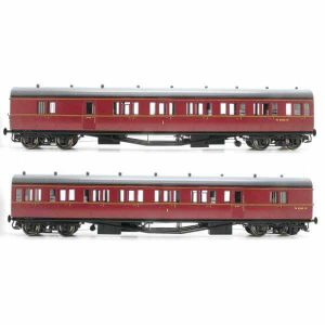 "Lionheart Dapol LHT-604 BR 'B' Set Coaches ""Launceston #2"" BR Crimson"