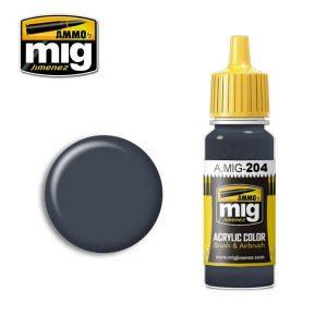 Mig Acrylic MIG204 FS36118 Medium Gunship Grey