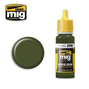 Mig Acrylic MIG206 RLM81 FS34079 (BS641) Green