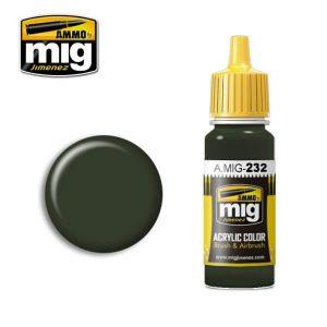 Mig Acrylic MIG232 RLM70 Schwartzgrun