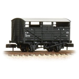 Graham Farish 373-261B 8T Cattle Wagon GWR Dark Grey