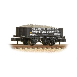 Graham Farish 377-032 5 Plank Wagon Steel Floor Helwith Bridge Road-Stone
