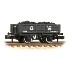 Graham Farish 377-061 5 Plank Wagon Wooden Floor GWR Grey