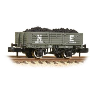 Graham Farish 377-062 5 Plank Wagon Wooden Floor LNER Grey