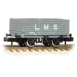 Graham Farish 377-087 7 Plank Wagon End Door LMS Grey