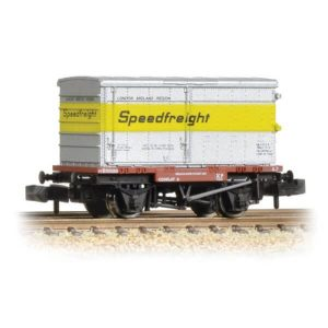 Graham Farish 377-345 Conflat Wagon Un-Vented Alloy BA Container Speedfreight