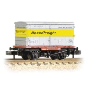 Graham Farish 377-346 Conflat Wagon Vented Alloy BA Container Speedfreight