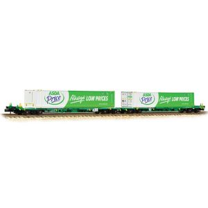 Graham Farish 377-368 Intermodal Bogie Wagon with Two 45ft Containers ASDA