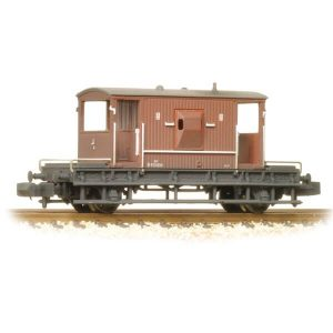 Graham Farish 377-528 20T BR Brake Van BR Bauxite Late Weathered