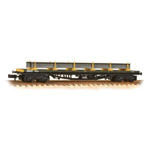Graham Farish 377-603A 80T YAA 'Brill' Bogie Bolster Wagon Departmental Yellow with Load