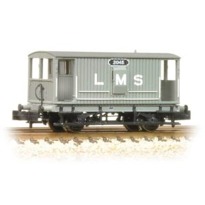 Graham Farish 377-750 20T Midland Brake Van LMS Grey with Duckets