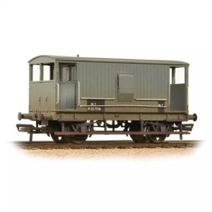 Graham Farish 377-754 20T Midland Brake Van BR Grey with Duckets Weathered