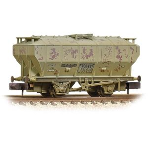 Graham Farish 377-766A Covered Hopper Wagon 'Soda Ash' BR Light Grey Weathered