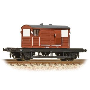 Graham Farish 377-854A 25T SR Pill Box Brake Van BR Bauxite Early