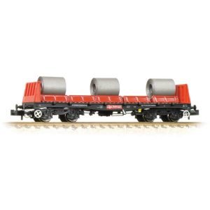 Graham Farish 377-900B BAA Steel Carrier Wagon with Steel Coils BR Railfreight