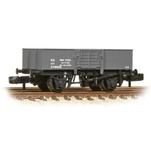 Graham Farish 377-954A 13T High Sided Steel Open Wagon with Smooth Sides & Wooden Door LNER Grey