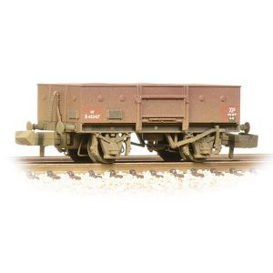 Graham Farish 377-955 13T High Sided Steel Open Wagon with Chain Pockets BR Bauxite Early Weathered