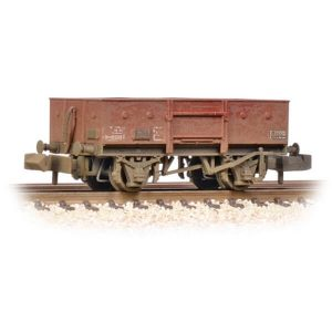 Graham Farish 377-956 13T High Sided Steel Open Wagon with Chain Pockets BR Bauxite Late Weathered