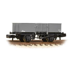Graham Farish 377-957 13T High Sided Steel Open Wagon with Smooth Sides & Wooden Door BR Grey
