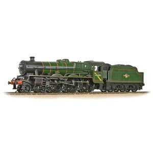 Bachmann 31-186A Jubilee with Riveted Tender 45654 'Hood' BR Lined Green Late Crest