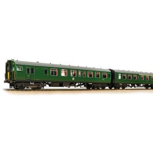 Bachmann 31-426C Class 411/4CEP 4 Car EMU 7122 BR Green (SR) with Small Yellow Panel Weathered