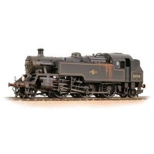 Bachmann 31-982 BR Class 3MT Tank 82018 BR Lined Black Late Crest Weathered