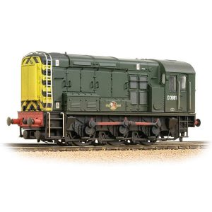 Bachmann 32-116B Class 08 D3881 BR Green with Wasp Stripes Weathered