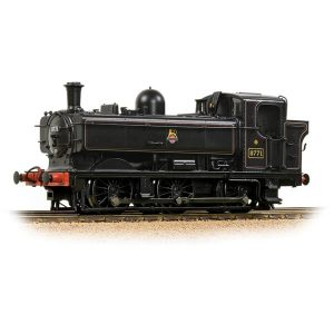 Bachmann 32-205A Class 87XX Pannier Tank 8771 BR Lined Black Early Crest