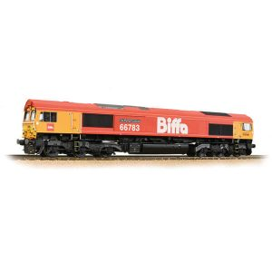 Bachmann 32-741 Class 66/7 66783 'The Flying Dustman' Biffa Red with GBRF Branding