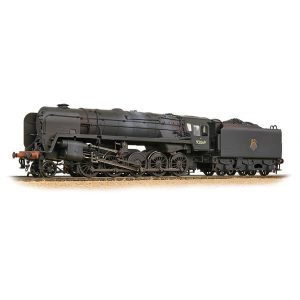 Bachmann 32-852A BR Class 9F with BR1F Tender 92069 BR Black Early Crest Weathered