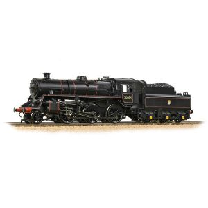 Bachmann 32-954A BR Class 4MT with BR2A Tender 76084 BR Lined Black with Early Crest