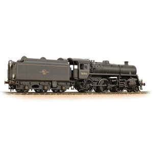 Bachmann 32-956 BR Class 4MT with BR1B Tender 76066 BR Black with Late Crest Weathered