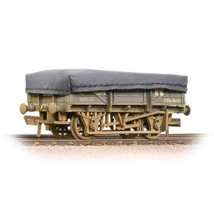 Bachmann 33-088A 5 Plank China Clay Wagon with Flat Hood GWR Grey Weathered