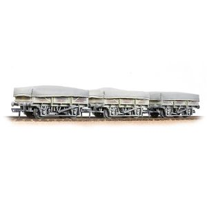 Bachmann 33-091 5 Plank China Clay Wagon with Flat Hood Triple Pack BR Bauxite Early Weathered