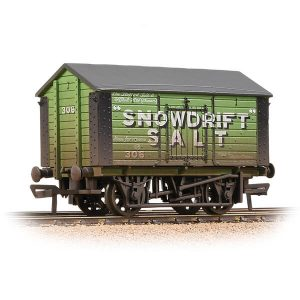 Bachmann 33-182A 10T Covered Salt Wagon Snowdrift Salt Weathered