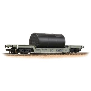 Bachmann 33-901F 45T Bogie Well Wagon BR Grey Early with load