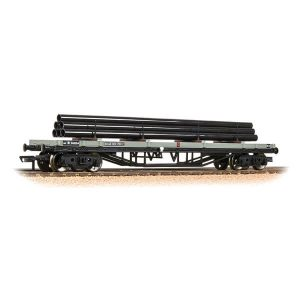 Bachmann 33-929C 30T Bogie Bolster Wagon BR Grey Early with load