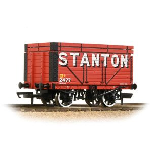 Bachmann 37-206B 8 Plank Wagon with Coke Rails Stanton Red