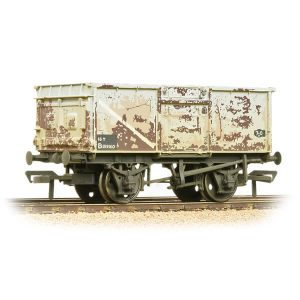 Bachmann 37-250J 16T Pressed End Door Steel Mineral Wagon BR Grey Early Weathered