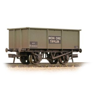 Bachmann 37-275G 27T Steel Tippler Wagon BR Grey Iron Ore Weathered