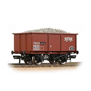 Bachmann 37-279A 27T Steel Tippler Wagon BR Bauxite Tops Stone Traffic with load