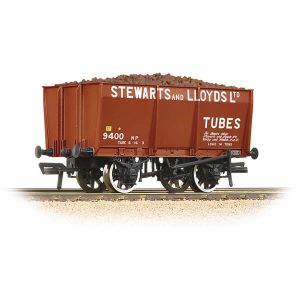 Bachmann 37-402 16T Slope Side Mineral Wagon Stewart & Lloyds Red with load