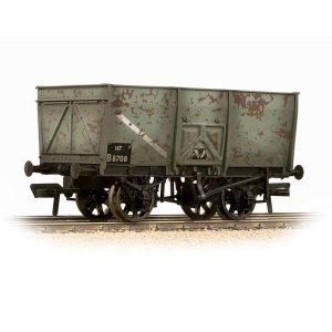 Bachmann 37-425B 16T Slope Side Mineral Wagon BR Grey Early Weathered