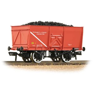 Bachmann 37-429 16T Slope Side Mineral Wagon WD Barnett & Co Red with load