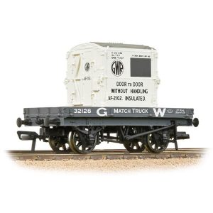 Bachmann 37-480 1 Plank Wagon GWR Grey with 'GWR' AF Container