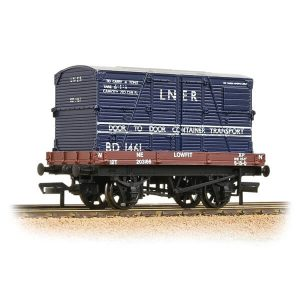 Bachmann 37-481 1 Plank Wagon LNER Bauxite with 'LNER' Blue BD Container