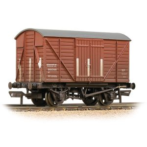 Bachmann 37-902B GWR 12T Shock Van Planked Ends BR Bauxite Early Weathered