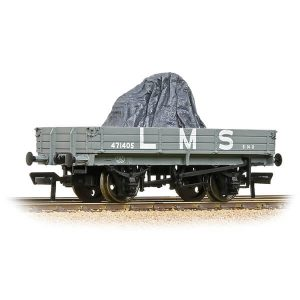 Bachmann 37-937 3 Plank Wagon LMS Grey with load